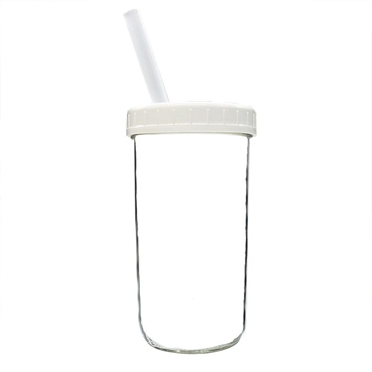 mason jar lid with straw hole